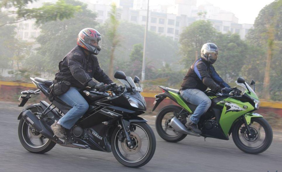 Honda Cbrrr Vs Yamaha R Drag Race