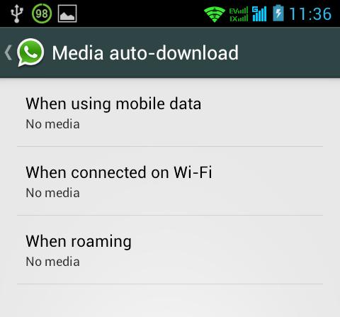auto-download menu