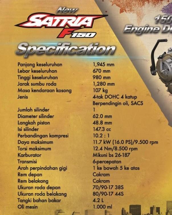NewFU150 spec