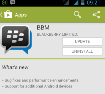 ... in bbm android tags bbm 1 0 072 blackberry limited update trackback