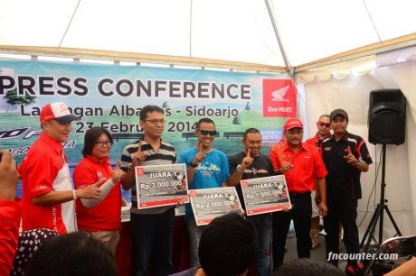 Pemenang Lomba Irit Revo FI 2014 MPM Honda
