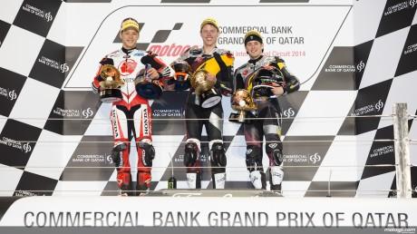 Podium Moto2 Qatar 2014