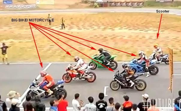 big bike vs scooter