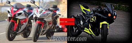 Yamaha R1 + R15