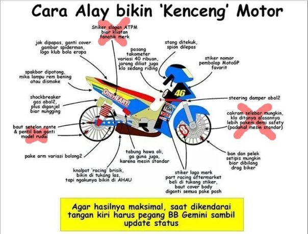 Tips Kencengin Motor versi Alay