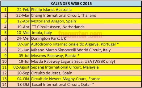 SBK 2015 Calender