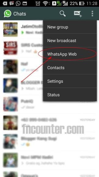 whatsapp web terlihat
