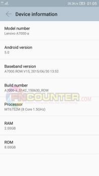 A7000 Device INFO