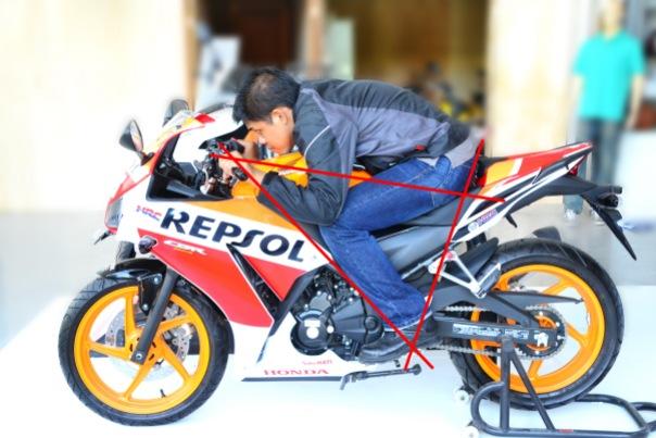 CBR 250R Repsol Ergonomi