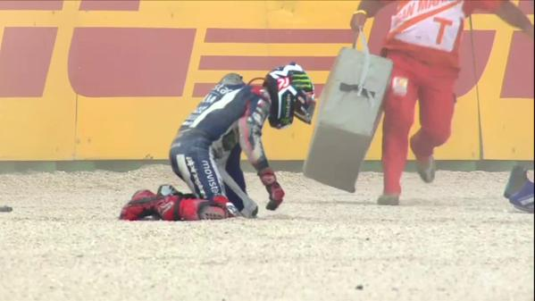 Lorenzo crash misano 2015