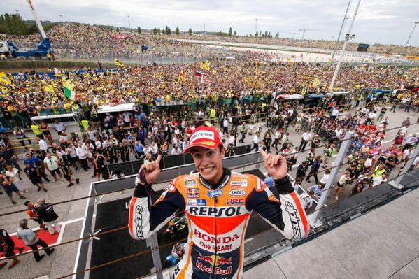 marquez on podium misano