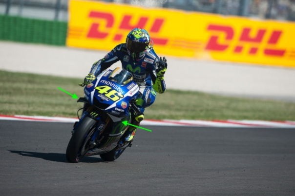 Rossi Yamaha M1 Winglet 1