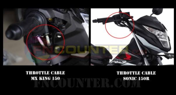 throttle gas mx king - sonic 150R 2